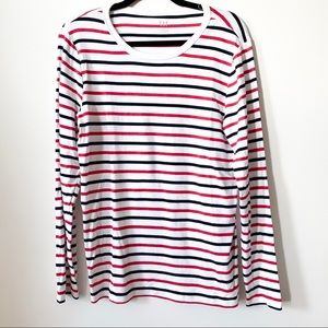 Navy + Red Striped Modern Tee // GAP